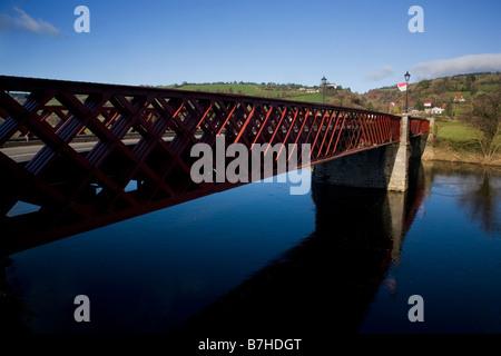 Girder Bridge Over the Blackwater River, Ballyduff, County Waterford, Ireland - Stock Photo