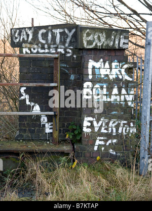 70's Graffiti on an old Bridge. Marc Bolan, Bowie - Stock Photo