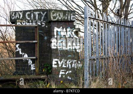 70's Graffiti on an old Bridge. Marc Bolan - Stock Photo