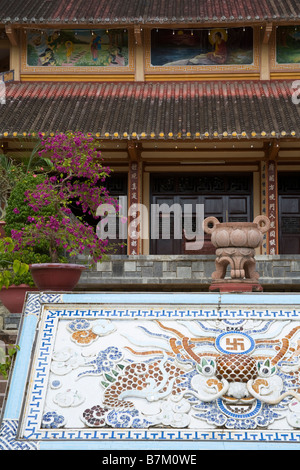 Long Son Pagoda Nha Trang City Vietnam Asia - Stock Photo