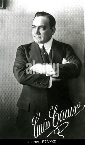 ENRICO CARUSO  Italian tenor 1873 - 1921 - Stock Photo