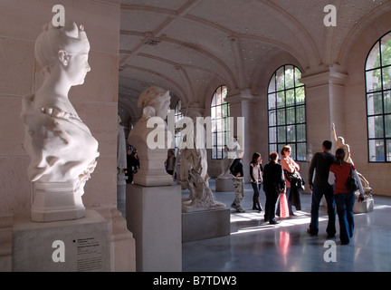 Sculpture gallery in the Palais des Beaux Art, Lille, France - Stock Photo