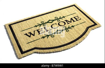 Welcome Door mat - Stock Photo