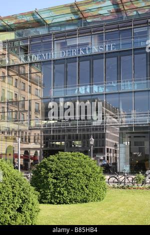 Berlin Pariser Platz Square Akademie Der Kuenste Academy Of Arts Hotel Adlon - Stock Photo