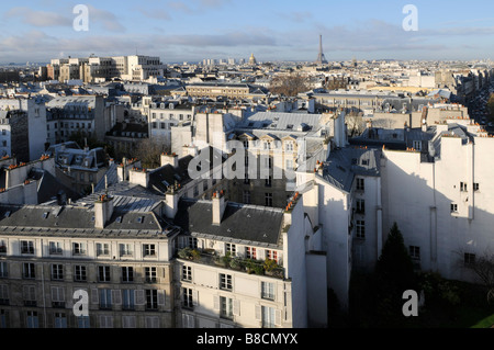 les Beaux Arts toits de Paris France - Stock Photo