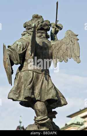 the famous marian colum from vienna located in the first district am hof near st stephens cathedral - Stock Photo