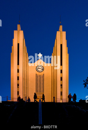 Akureyri Church, Akureyri, Iceland - Stock Photo