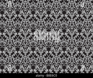 Seamless victorian floral background Big XXL size - Stock Photo