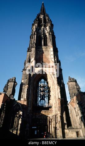 Feb 18, 2009 - Remainder of St Nikolai church (Nikolakirche) in the German city of Hamburg. - Stock Photo