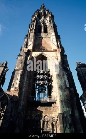 Feb 18, 2009 - Remainder of St Nikolai church (Nikolaikirche) in the German city of Hamburg. - Stock Photo
