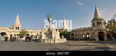 Budapest , Hungary . Fisherman's Bastion in Castle district - Stock Photo