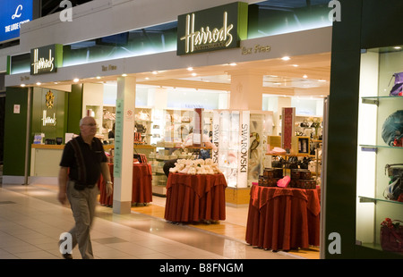 Harrods Duty free shop, Terminal 1 departure lounge, Heathrow airport, London - Stock Photo