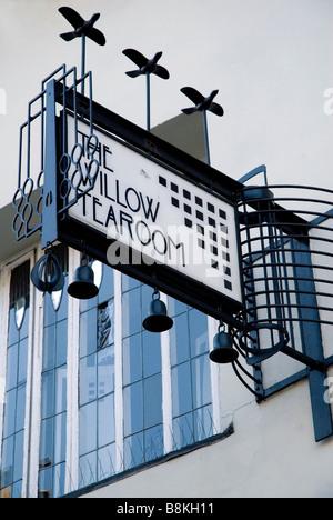 Willow Tea Rooms, Sauciehall Street, Glasgow, designed by Charles Rennie Mackintosh for Miss Catherine Cranston - Stock Photo