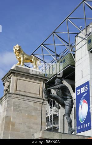 Twickenham Stadium West Stand 6 nations - Stock Photo