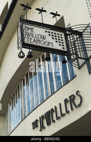 The Willow Tea Rooms in Sauchiehall Street, Glasgow, Scotland. - Stock Photo