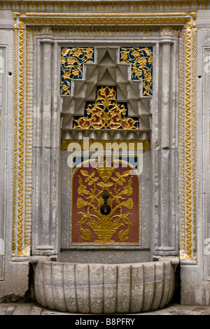A decorative water tap in Istanbul - Stock Photo