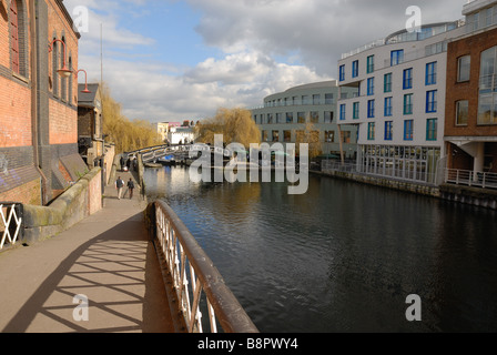 Regents Canal at Camden Town lock London - Stock Photo