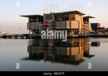 The Oceanarium biggest largest in Europe Parque das Nacoes Park of Nations Lisbon Portugal Europe - Stock Photo