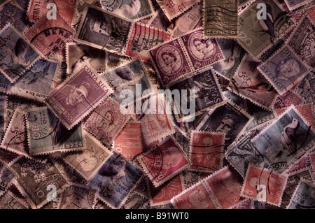 Random world stamps - Stock Photo