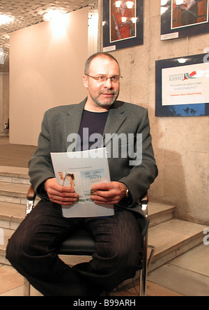 Film director and script writer Georgy Shengelia who directed the Neupravlyaemy zanos Uncontrolled skidding - Stock Photo