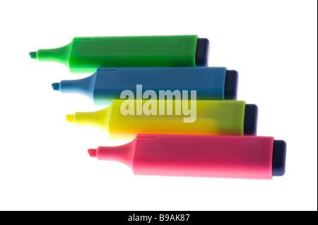 object on white soft tip pen - Stock Photo
