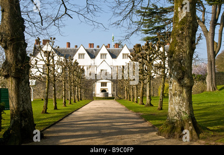 St Fagans Castle, the main building in the Museum of Welsh Life site at St Fagans outside Cardiff - Stock Photo