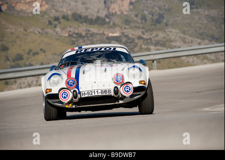1969 Renault Alpine A 110 racing in the Classic car rally Mallorca - Stock Photo