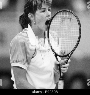 Tennis player Gretchen Magers at the I International Tournament for Virginia Slims series - Stock Photo