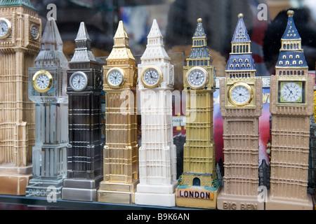 Big Ben Souvenirs in London England - Stock Photo