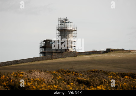 The Belle Tout lighthouse near Beachy Head March 2009 - Stock Photo