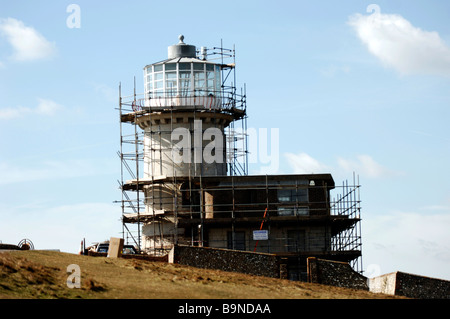 The Belle Tout lighthouse near Beachy Head in East Sussex March 2009 - Stock Photo
