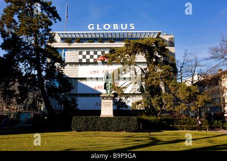 Switzerland, Zurich, Globus department store in Bahnhofstrasse - Stock Photo