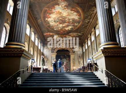 Painted Hall, Old Royal Naval College,Greenwich, London - Stock Photo