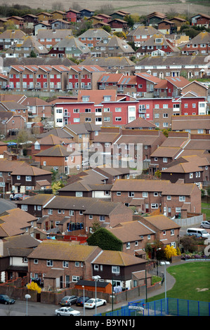 The Whitehawk housing estate in Brighton East Sussex - Stock Photo