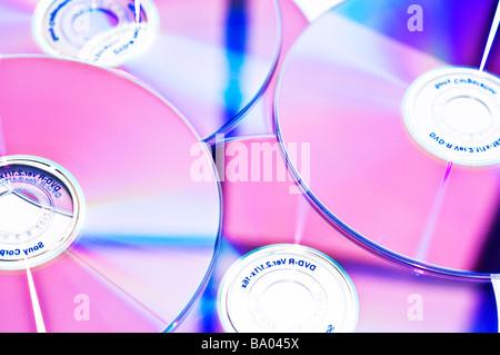 CD and DVD discs - Stock Photo