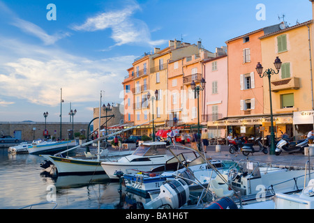 Harbour, St Tropez, Cote d'Azur, France - Stock Photo