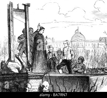 Louis XVI., 23.8.1754 - 21.1.1793, King of France 10.5.1774 - 21.9.1792, death, execution on the Place de la Revolution, - Stock Photo