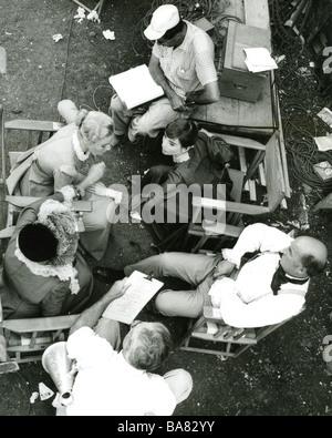 WAR AND PEACE 1956 film - Script rehearsal - see Description below - Stock Photo