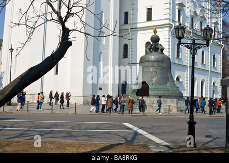 The Great Bell, Tsar's Bell Kremlin Moscow, Russia. - Stock Photo
