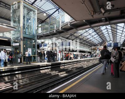 Inside Earls Court underground Station London England UK - Stock Photo