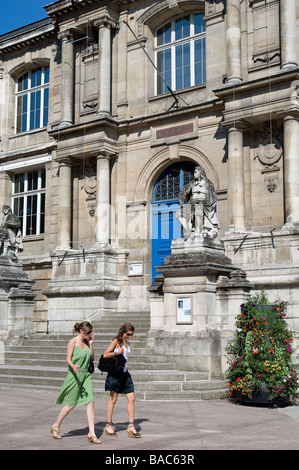 France, Seine Maritime, Rouen, entry of the Musee des Beaux Arts - Stock Photo