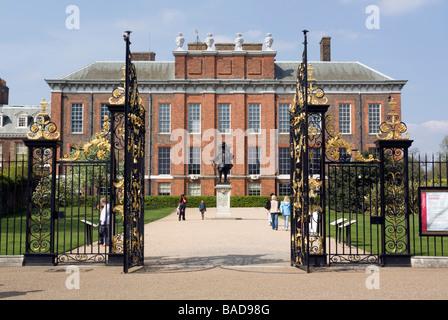 Kensington Palace Gates - London - Stock Photo