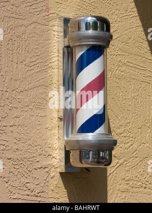 barber shop pole - Stock Photo