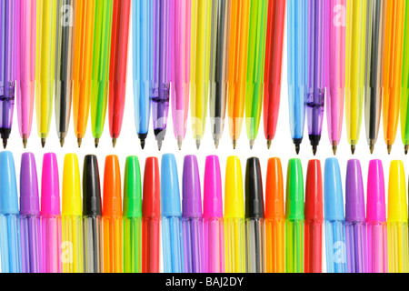 Row of Ballpoint Pens - Stock Photo
