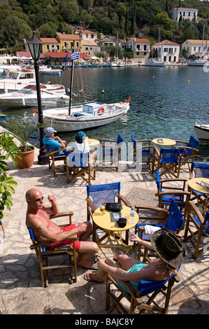 Greece, Ionian islands, Ithaca island (Ithaki), the small port of Kioni - Stock Photo