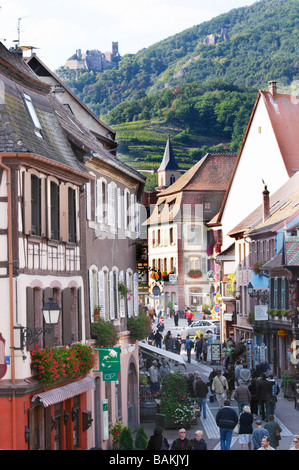 main street ch. st ulrich in back ribeauville alsace france - Stock Photo