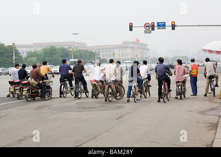 Cyclists in beijing - Stock Photo