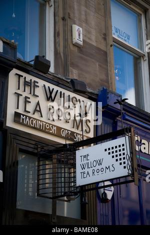 The Willow Tea Room, Buchanan Street Glasgow Scotland - Stock Photo