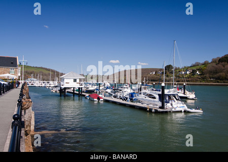 A view of the Dart Marina next to their hotel and spa - Stock Photo