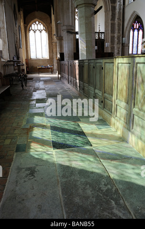 Interior of 14th century church of St Mary  in Worstead village,Norfolk England,Great Britain,UK - Stock Photo